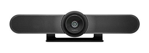 Logitech MEETUP Videokonferenz-Webcam, Ultra-HD 4K, 120° Blickfeld, Motorisierte Neigung, Integrierte Lautsprecher, Full Duplex & Advanced Beamforming Mikrofone, Für kleinere Meetingräume - Schwarz