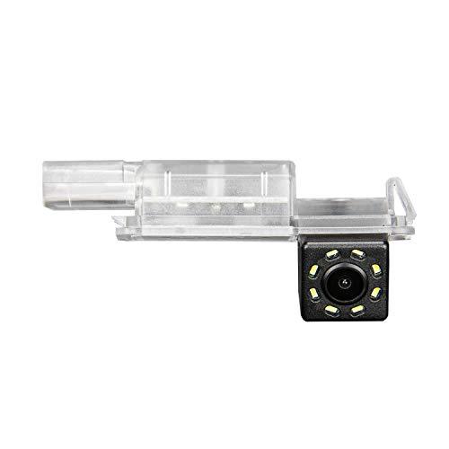 HD 720p Rückfahrkamera für Rückfahrkamera für Universal Monitore (Cinch) (Farbe: Schwarz) für Seat Ibiza FR Golf 7 MK7 / VII / Skoda Scirocco/Seat Leon/Seat Leon 5F/Lamando
