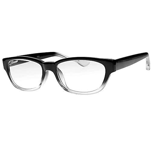 Occhiali da lettura in vetro trasparente di alta qualità con lenti in vero vetro in elegante cornice in acetato di alta qualità disponibile con ingrandimento da 0,25 a +3,00