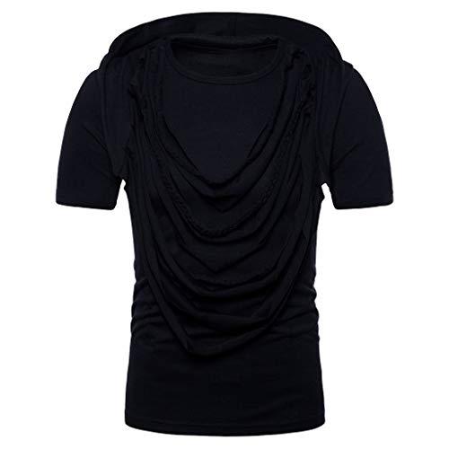 Daupanzees Mens Button Up Denim Work Shirt Long Sleeve Business Big and Tall Jeans Dress Shirt
