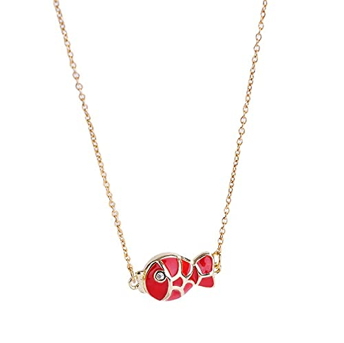 Collar Termocrómico Que Preserva El Color De Acero Titanio Cadena De Clavícula Roja