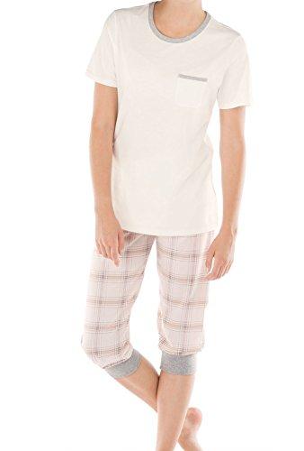 CALIDA Damen Pyjama 3/4-Länge 40025, Evening Sand, L