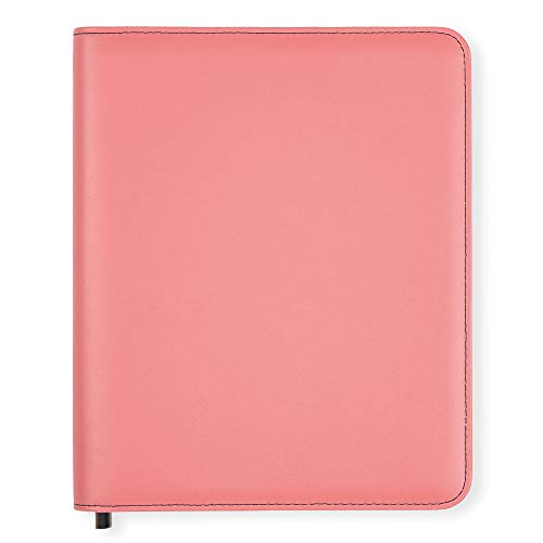 Boxclever Press Essentials A5 Diary Cover in Faux Leather with Zip-Round Fastening. Perfect Diary Cover for Nurses or Health Visitors. NHS Diary Cover, Journal Cover, Book Cover. (Chalky Rose)