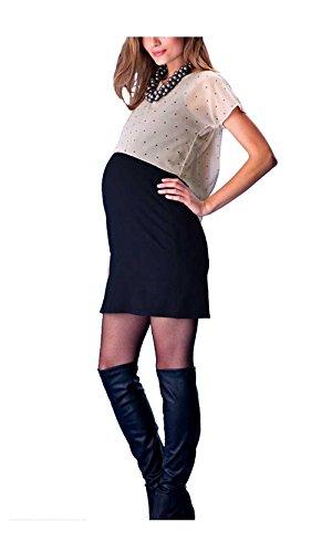 Mama Licious robe de grossesse avec Top Noir - Noir - Small