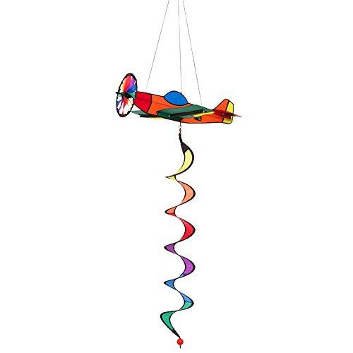 HQ Windspiration 109328 - Airliner Twist, UV-beständiges und wetterfestes Windspiel - Länge: 78 cm, Breite: 37 cm, Tiefe: 39 cm , inkl. Aufhängung