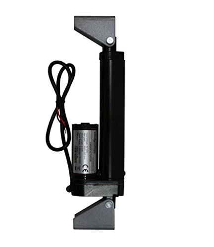 """WINDYNATION 4 Inch 4"""" Stroke Linear Actuator 12 Volt 12V 225 Pounds lbs Maximum Lift (Includes Mounting Brackets)"""