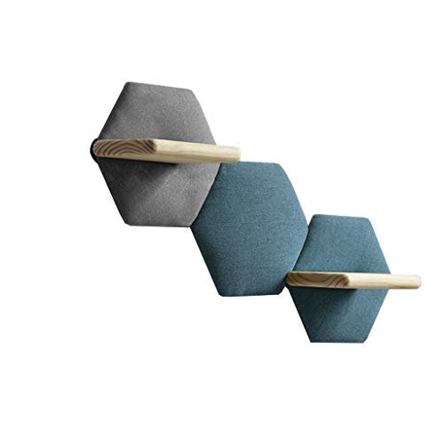 LSLS Sala de Estar Dormitorio Decoraciones de Pared Creativa TV Fondo de Pared Muro de Pared Colgando Sofá Hexagonal Estante estantería de Pared (Color : #1)