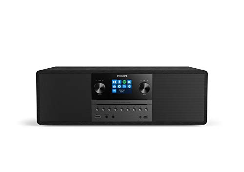 Philips M6805/10 Mini Stereoanlage mit CD und Bluetooth (Internet Radio DAB+/UKW, USB, Spotify Connect, MP3-CD, Audioeingang, 50 W, All-In-One Microsystem, Digitale Sound Kontrolle) - 2020/2021 Modell