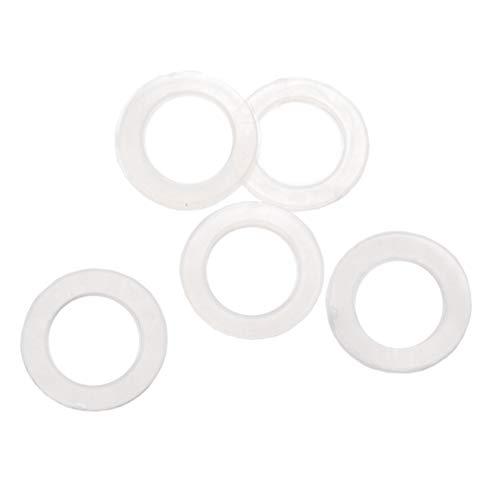 Pack tamaño M5 plástico transparente nailon arandela Shim espaciador arandela juntas anillos...