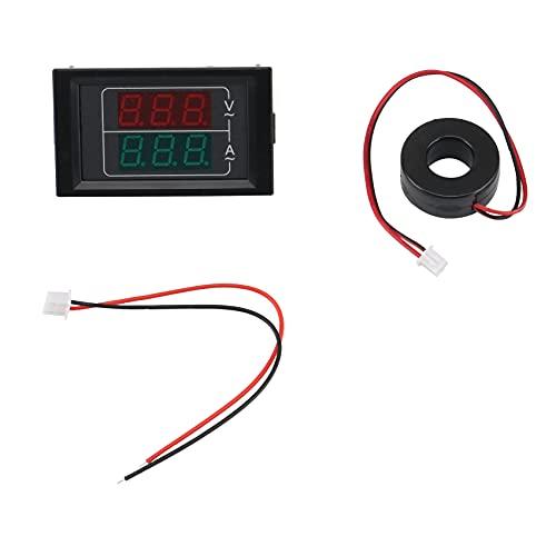 Autumnv Ac50-500V 220V Medidor de Corriente de Voltaje de Pantalla Dual Medidor Detector Amperimetro Voltímetro Led Amperímetro Instrumento Eléctrico