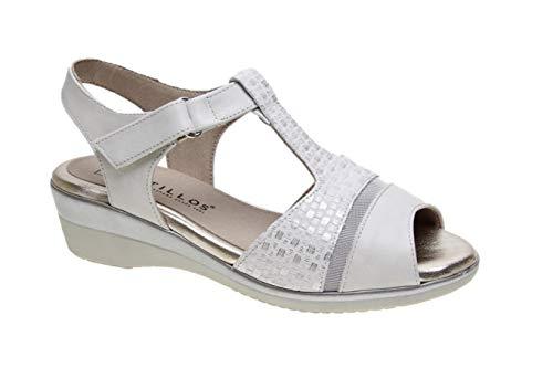Sandalia Cierre Velcro con cuña de 4cm Anchas y...