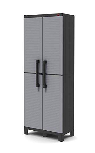 Keter Cabinet pour économie d'Espace, Gris/Noir, 68 x 38 x 171 cm