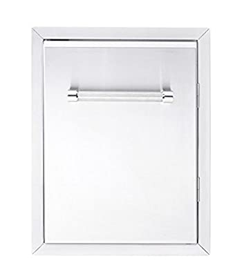 """KitchenAid 780-0019 Built-in Grill Cabinet Single Access Door, 18"""", Stainless"""