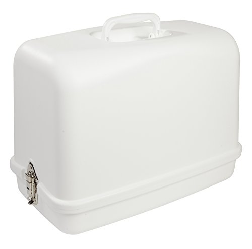 SINGER | Universal Hard Carrying Case, White, Impact Resistant Plastic, Fits Most Free-Arm Portable Sewing Machines - Sewing Made Easy
