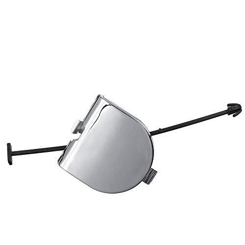 HBJP Accesorios de Coche Cubierta de Ojo de Remolque de Parachoques Trasero Cromo Completo para FIAT 500 07-12