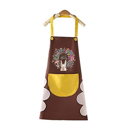 jieqing Delantal Cocina Mandil Cocina Mujer Las Mujeres Delantal Delantal para Las Mujeres Delantales de Cocina para Mujeres Brown