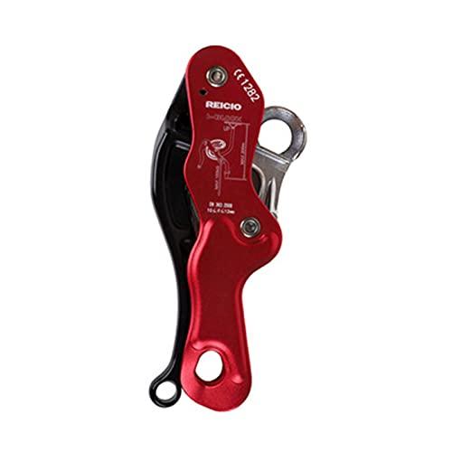 RROWER Arrampicata Discender Stop Discender Professional Volay Dispositivo per Arrampicata Rock Tree Attrezzatura da ingranaggio per 10-12mm Singola Corda