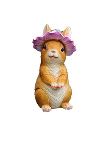 JOOLEE Ozdoba ogrodowa figurka królik obiekt ogrodowy królik ogród wejście do ogrodu na zewnątrz Erker Schody C