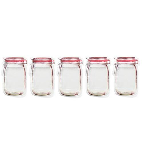 Wiederverwendbar Wiederverwendbare Jar Zipper-Beutel-Einkaufstüte Keksdose Nahrungsmittelspeicher-Beutel-bewegliche Nuss-Plätzchen Tasche Küche Nahrung versiegelte Aufbewahrungstasche für Reisen, nach
