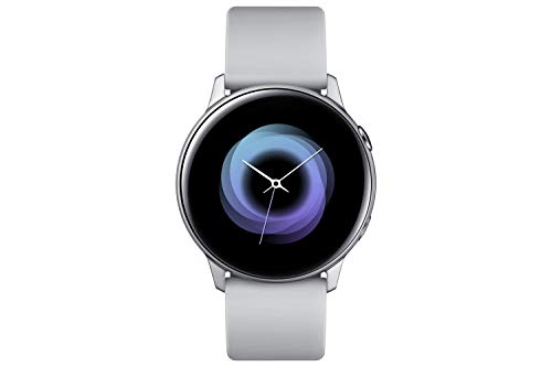 Samsung Galaxy Watch Active, Bluetooth Fitnessarmband Für Android, Fitness-Tracker, 40 mm, wassergeschützt, Silber (Deutche Version)
