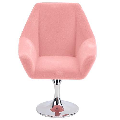 needlid Mini Silla De Muebles, Práctico Y Elegante Mini Sillón De Muebles Suave Mini Silla De Muñeca Accesorios De Casa De Muñecas para 1:12 Casa De Muñecas En Miniatura(Rosado)