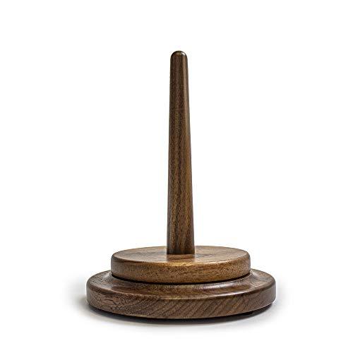 myboshi Wollabwickler, Nussbaum Holz, beidseitiges geschlossenes Metallkugellager, handgefertigt, Made in Germany Nussbaum