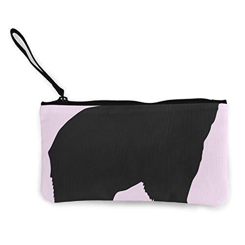 Moneda de lona, bolso de oso grande con cremallera, bolsa de cosméticos de viaje multifunción, bolsa de maquillaje para teléfono móvil, paquete de lápices con asa