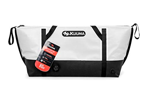 Kuuma Heavy Duty 80 Quart Insulated Fish Bag with Drain Plug - Keeps Your Fish Cool and Fresh (50180)