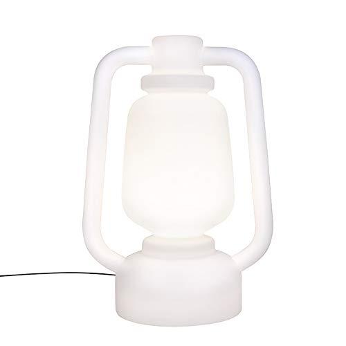 QAZQA Design/Modern Stehleuchte/Stehlampe/Standleuchte/Lampe/Leuchte weiß 110 cm IP44 - Storm Extra Large/Außenbeleuchtung Kunststoff Rund LED geeignet E27 Max. 1 x 50 Watt