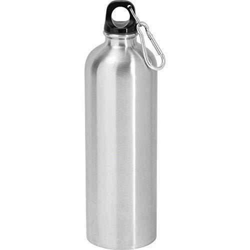 Outdoorflasche 0,5l BPA frei aus Edelstahl mit Schraubverschluss, Druckbeständig, Wasserflasche, Trinkflasche
