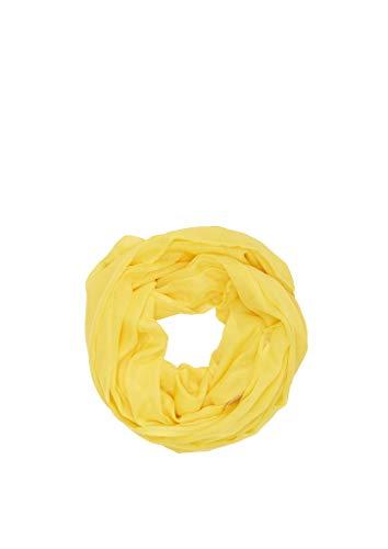 s.Oliver Damen 38.899.91.5812 Snood Schal,  Gelb (yellow 1201), Einheitsrgröße (Herstellergröße:1)
