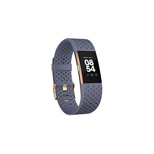 Fitbit Charge 2 Pulsera de Actividad física y Ritmo cardiaco, Blue/Grey, S