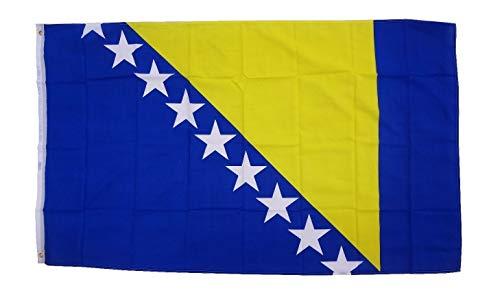 Flaggenfritze Fahne/Flagge Bosnien-Herzegowina + gratis Sticker