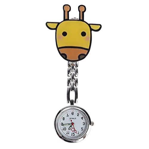 Reloj para enfermeras Relojes para enfermeras Reloj de cuarzo para enfermeras Clip colgante Doctor Medic-al Relojes Reloj de bolsillo Dibujos animados linda Colgante de plata Cofre Colgante portá