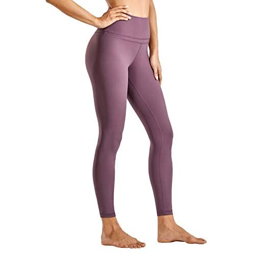 CRZ YOGA Women's Naked Feeling High Waist Tight Yoga Pants Workout Gym Leggings-25 Inches