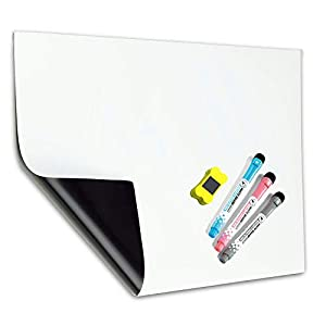 A3 Pizarra Magnética Tablero Blanco de MZMing-Refrigerador Pizarra Magnética de Cocina Lista de Compras Adecuado para Niños Adultos Fácil de Escribir Escobillas Magnéticas Fuertes-Tablón de Anuncios