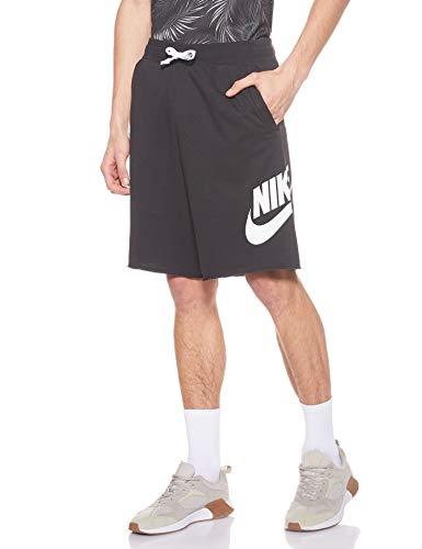Nike Herren M NSW HE Short FT Alumni Sport, Black/Black/White/(White), L
