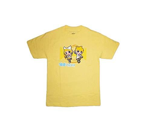 Vocaloid Miku Hatsune Rin and Len T-Shirt (XL)
