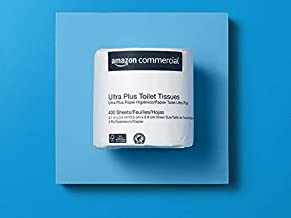 AmazonCommercial Ultra Plus Toilet Paper, 400 Sheets per Roll, 80 Rolls - 416975