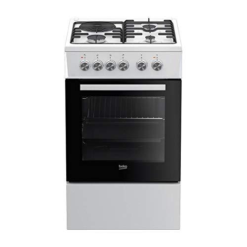 Beko FSS53000DW - Cocina (Cocina independiente, Blanco, Giratorio, Combi, Parte izquierda trasera, Eléctrico)