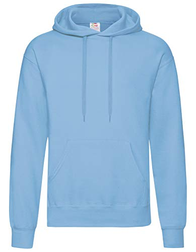 Fruit of the Loom - Kapuzen-Sweatshirt 'Hooded Sweat' M,Sky Blue