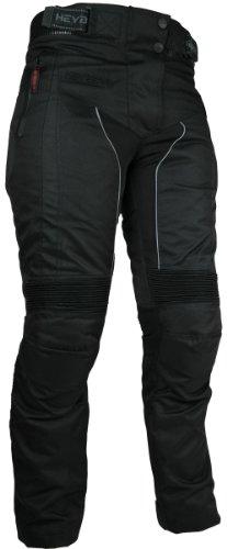 HEYBERRY Damen Motorrad Hose Motorradhose Textil Schwarz Gr. S / 36