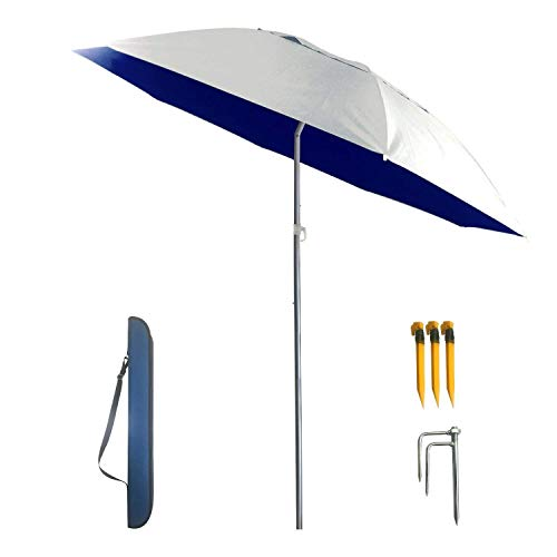 YINO Portable Sunshade,Parasol,Sun Shade Umbrella,Inclined,Heat Insulation,Antiultraviolet Function,Commonly Used in Garden,Beach,Patio,Fishing Essential
