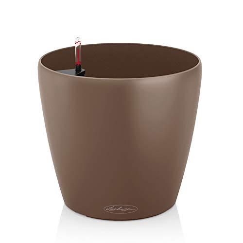 LECHUZA Classico Color 18, Muskat, Hochwertiger Kunststoff, Inkl. Bewässerungssystem, Für Innen- und Außenbereich, 13262