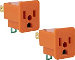 Power Pair: Get 2 outlet adapters for one price with the GE polarized grounding adapter 2 pack Transform: A 2 prong outlet can be changed to receive 3 prong plugs and continue to get grounding protection Easy to Install: Plug in the outlet adapter an...