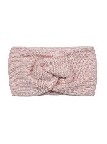 Zwillingsherz Stirnband mit Zopf-Knoten - Hochwertiges Strick-Kopfband für Damen Frauen Mädchen - Kaschmir - Ohrenschutz - Haarband - warm weich und luftig für Frühjahr Herbst und Winter - rosa