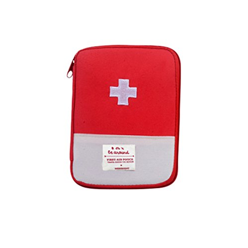 Erste Hilfe Set Tasche First Aid Bag Medizintasche Notfalltasche Sanitätstasche Reiseapotheke Tasche wasserdicht Training Erste-Hilfe-Koffer Notfalltasche (Rot) (L:18 * 13CM)