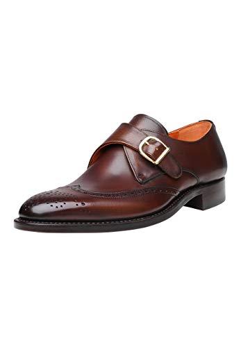 SHOEPASSION - No. 5455 - Schnallenschuhe - Komfortabler Business- oder Freizeitschuh für Herren. Handgefertigt aus Leder mit einmaliger Patina.