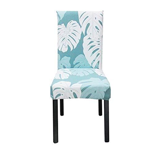 YGLONG Stuhlhussen 2 Stück Blumendruck-Stuhl-Abdeckung Multifunktionale Spandex Startseite Dining Chair Fall elastische Universal-Stretch Hussen (Color : Color19, Specification : Universal)