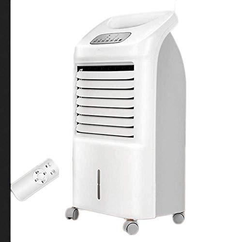 Enfriador de Aire evaporativo portátil, Calentador de Ventilador, purificador de Aire, humidificador, Control Remoto, 3 velocidades de Ventilador, persianas oscilantes, Pantalla LCD